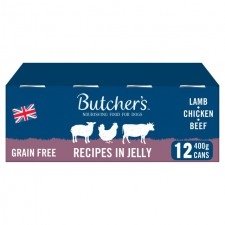 Butchers Grain Free Lamb Chicken and Beef 12 x 400g