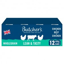 Butchers Wholegrain Lean and Tasty Low Fat Dog Food Tins 12 x 400g