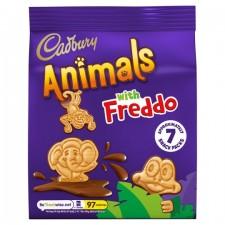 Cadbury Animals with Freddo Biscuits Mini Snack Pack 7 x 19.9g