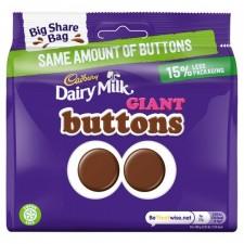 Cadbury Dairy Milk Chocolate Giant Buttons Share Bag 240g