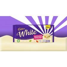 Cadbury White Jelly Popping Candy Chocolate Sharing Bar 160g