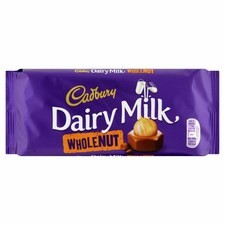 Cadbury Whole Nut Chocolate 120g