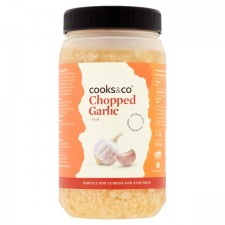 Catering Size Cooks and Co Chopped Garlic 1.2kg