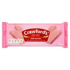 Catering Size Crawfords Pink Wafers 12x100g
