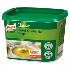 Catering Size Knorr Classic Carrot and Coriander Soup Mix 25 Portions 446g