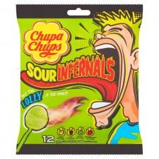 Chupa Chups Sour Infernals Lollies Bag 12 per pack