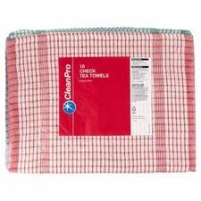 Clean Pro 10 Check Tea Towels 46cm x 70cm
