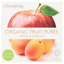 Clearspring Organic Apple and Apricot Puree 2 X 100g