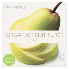 Clearspring Organic Pear Fruit Puree 2 X 100g