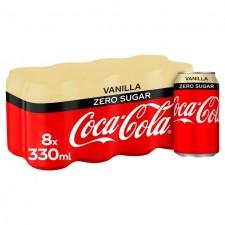 Coca Cola Zero Vanilla 8 x 330ml Cans