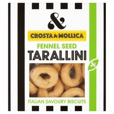 Crosta and Mollica Tarallini with Fennel Seeds 170g