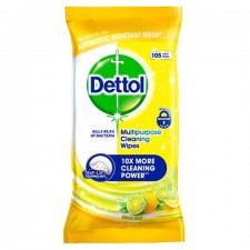 Dettol Power and Fresh Citrus Zest Wipes 105 Pack