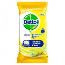 Dettol Power and Fresh Citrus Zest Wipes 30 Pack