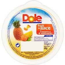 Dole Pineapple and Mandarins In Juice 113g