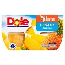 Dole Pineapple in Juice 4 x 113g
