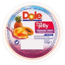 Dole Tropical Fruit In Tropical Jelly 123g