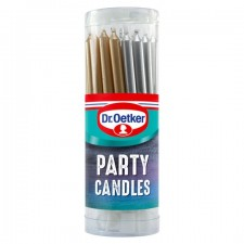 Dr Oetker Metallic Party Candles x 18