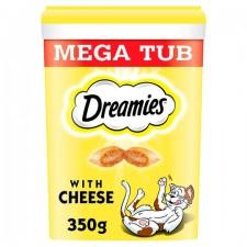 Dreamies Mega Tub Cat Treats with Cheese 350g