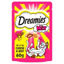 Dreamies Mix Cat Treats Beef And Cheese 60g