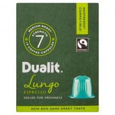 Dualit Nespresso Compatible Coffee Capsules  Lungo Espresso x 10