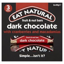 Eat Natural Cranberry Macadamia and Dark Chocolate Bars 3 Pack