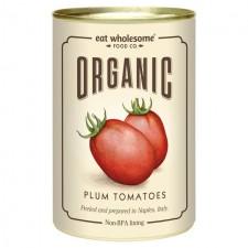Eat Wholesome Organic Peeled Plum Tomatoes 400g