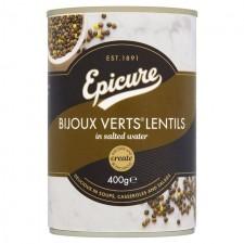 Epicure Bijoux Verts Lentils 400g