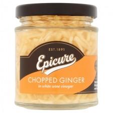 Epicure Chopped Ginger in White Wine Vinegar 180g