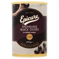 Epicure Stoneless Black Olives 400g