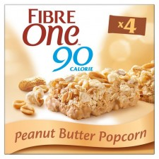 Fibre One Peanut Butter Popcorn Bars 4 Pack