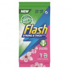 Flash Anti-Bacterial Wipes Cherry Blossom and Breeze 48 per pack