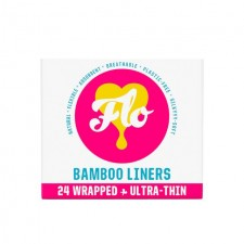 FLO Natural Bamboo Daily Liners Wrapped 24 per pack