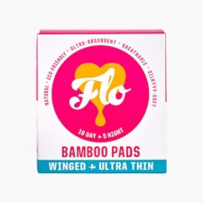FLO Natural Bamboo Pad Day And Night Pack  Winged And Ultra Thin 15 per pack
