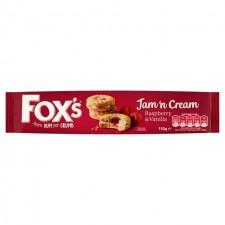 Foxs Jam n Cream Rings 150g