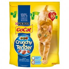 Go-Cat Crunchy and Tender Cat Food Salmon 800g