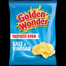 Golden Wonder Salt and Vinegar Crisps 32 x 32.5g box