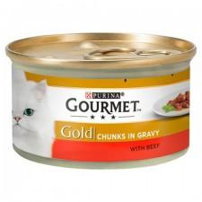 Gourmet Gold Cat Food Beef in Gravy 85g