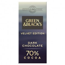 Green and Blacks Velvet Edition Dark Chocolate 70% Cocoa 90G