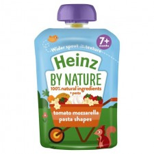 Heinz 7 Month Tomato and Mozzarella Pasta Shapes 130g pouch