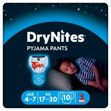 Huggies DryNites Pyjama Pants x 10 boys 4-7 years