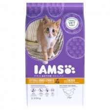 Iams Kitten and Junior Dry Cat Food Chicken 2.55kg