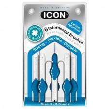 Icon Antibacterial Interdental Brushes 0.6mm 6 per pack