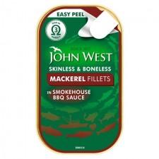John West Mackerel Fillets in BBQ Sauce 115g