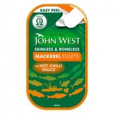 John West Mackerel Fillets in Hot Chilli Sauce 115g