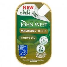 John West Mackerel Fillets in Olive Oil 115g