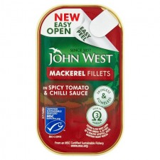John West Mackerel Fillets in Spicy Tomato and Chilli 115g