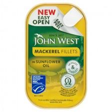 John West Mackerel Fillets In Sunflower Oil 115g