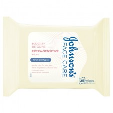 Johnsons Face Care Extra Sensitive Wipes 25