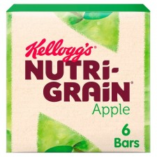 Kelloggs Nutri Grain Bars Apple 6 Pack