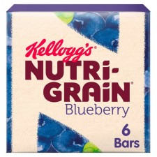 Kelloggs Nutri Grain Bars Blueberry 6 Pack